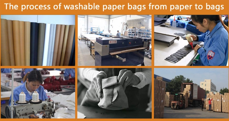 Washable Kraft Paper Bags Backpack/Washable Paper Bags Backpack/Low MOQ Washable Paper Bags Manufacture