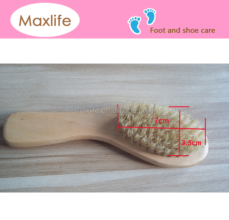 bend wood handle brush,pig hair brush