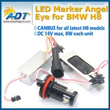 Canbus no error code H8 angel eyes kit led marker DC 12V for bmw E90 E91 E82 E87 E60 E61 E63 E64