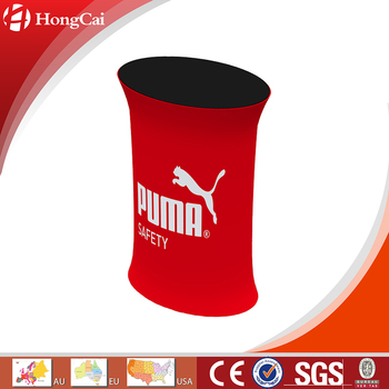 Portable Oval Tension Fabric Promotion Table
