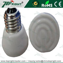 White color Ceramic infrared heater lights heating element