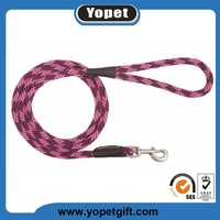 Wholesale High Quality Custom Pet Products Nylon Rope Dog Running Leash