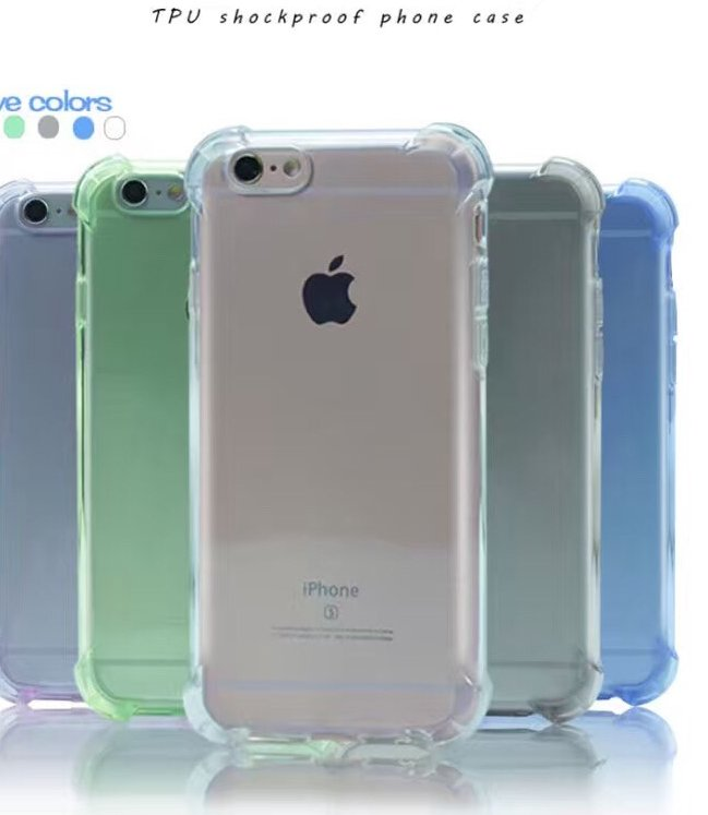 2016 hot selling high quality soft transparent shockproof TPU gel mobile phone protective case for iphone 6 6s plus