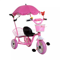 Mother baby stroller bike, metal tricycles for toddlers, toddler tricycle with push bar