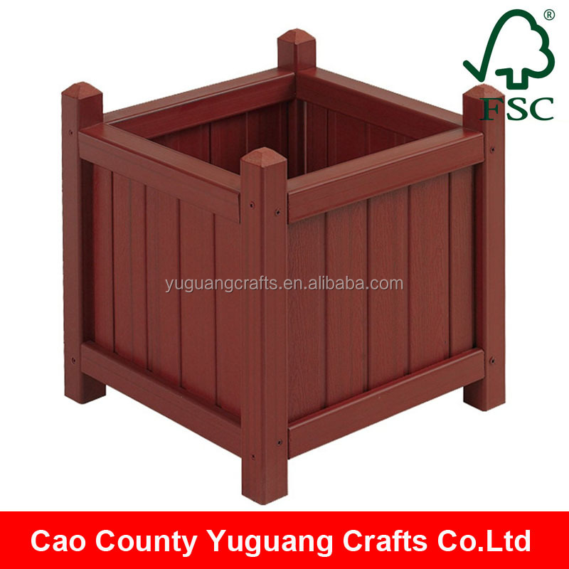 Yuguang Crafts Handcraft Well Painted Outdoor Wood Planter