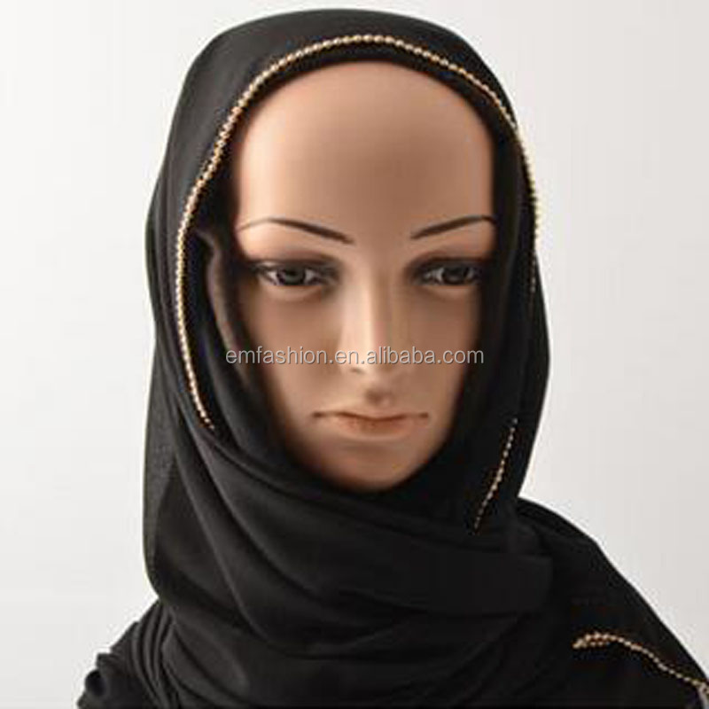 New Arrival Chains Chiffon Arab Muslim Hijab <strong>Scarf</strong>