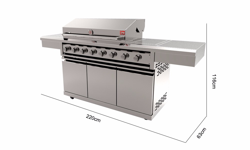 Multifunctional grill bbq , bbq gas grill , cooking bbq grill