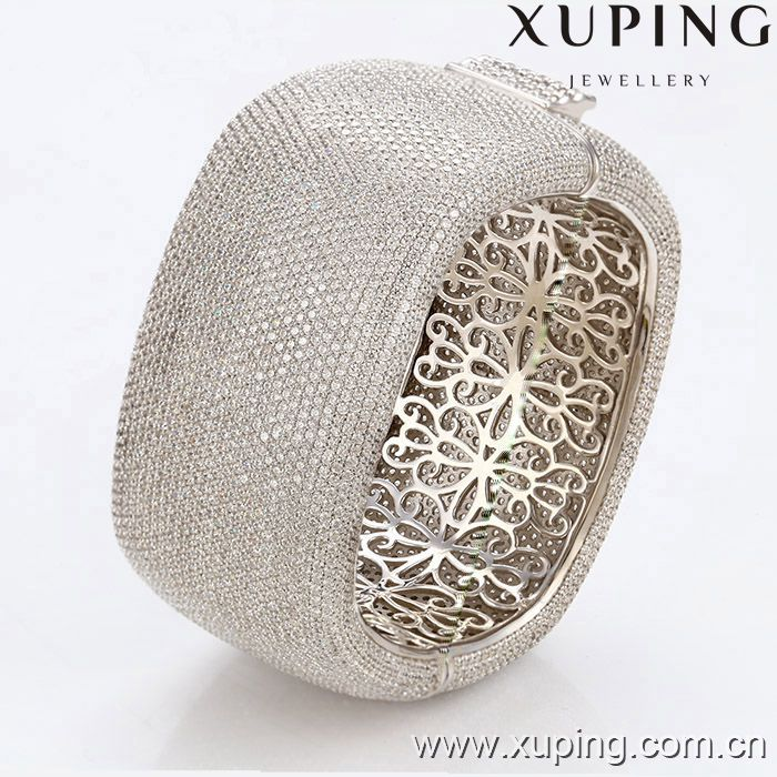 Xuping Fashion Luxury Decent Rhodium Color Women Bangle 51160