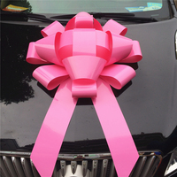 Wholesale new car decoration 30'' pink pull Car Bows sale