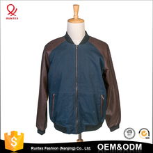 2017 China Factory price Top quality custom man leather jacket