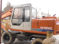 used Hitachi Wheel Excavator EX100-1,original equipment