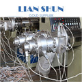 Advanced technology PVC one out of two pipe production line