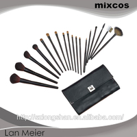 for face with pvc bag 18pcs professional makeup cosmetic brushes set