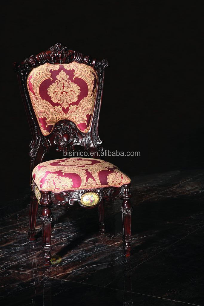 Luxury French Style Living Room Wood Carving Chair/Antique Palace Curio Chair With Coffee Table/Hand Carved Wooden Dining Chair