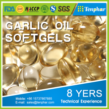 Garlic Essential Oil Supplement Soft Gels Capsules For Cholesterol