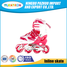 Adjustable Inline Skates High Speed Aluminum Chassis 4 Wheels Retractable Roller Shoes