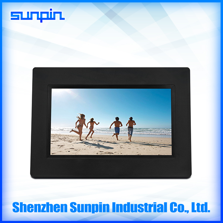 7 inch mini desktop digital photo frame support sd/mmc card and usb devices