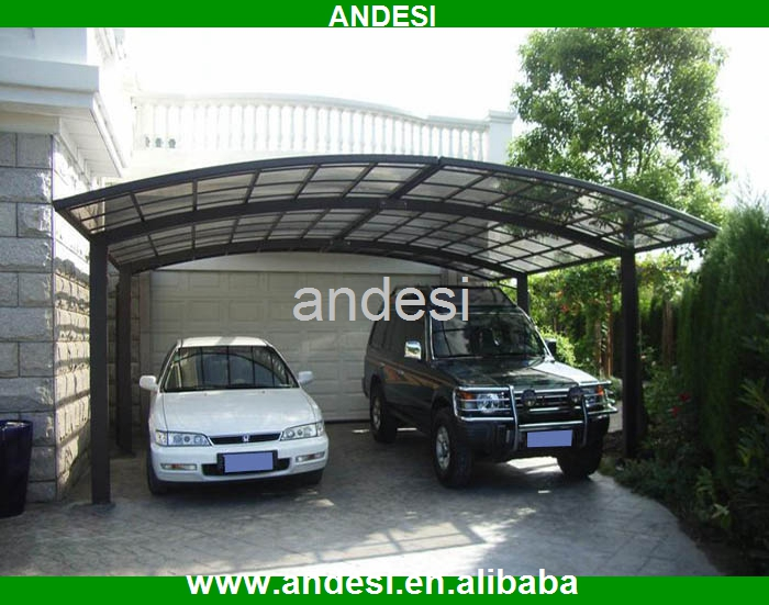 aluminum glass roof car parking shelters