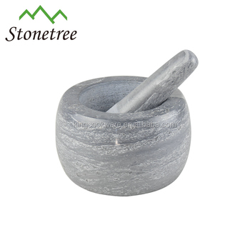 Grey Stone Mortar and Pestle