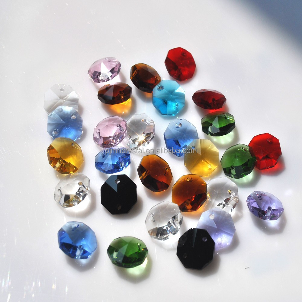 decoration polished beads 14mm octagon crystal MH-B2001