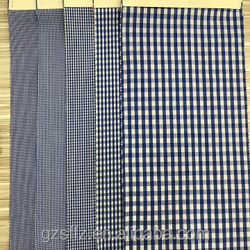 China Supplier yarn dyed Woven Textile 100% Cotton School Uniform Fabric