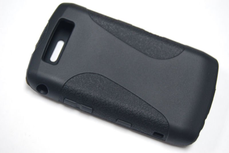 Silicon cover for BlackBerry 9700 with leather style
