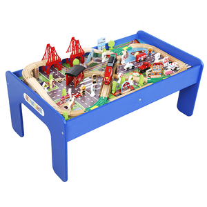 Wholesale OEM Wooden Table Train Set Train Track Kids Construct Toy Car Model