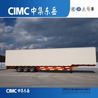 CIMC Long Vehicles Closed Type Van Box Truck Semi Trailers