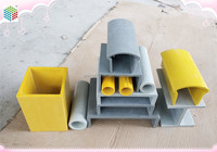 Construction support fiberglass pultruded profiles