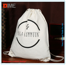 Thick Durable Custom Printed Canvas Drawstring Shoe Bag
