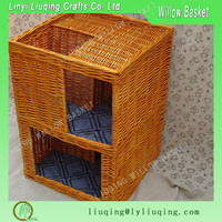 two tier square wicker dog/cats baskets pet house