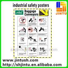 High Durable Custom Design Print Industrial Safety Posters/Stickers