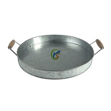 Galvanized Metal Party storage fruit and beverage Tray