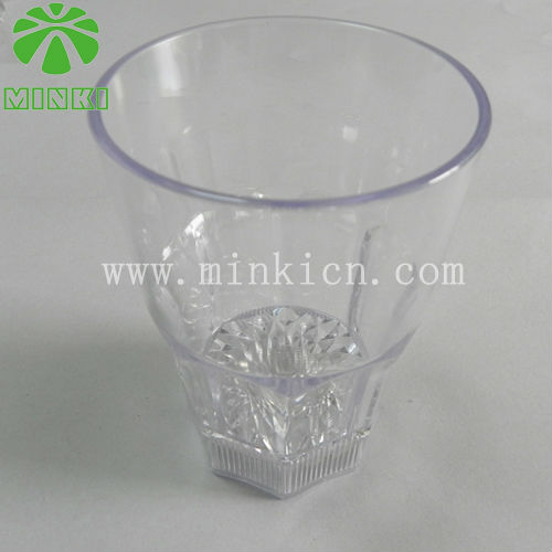 Light up double insulated plastic cups with straws