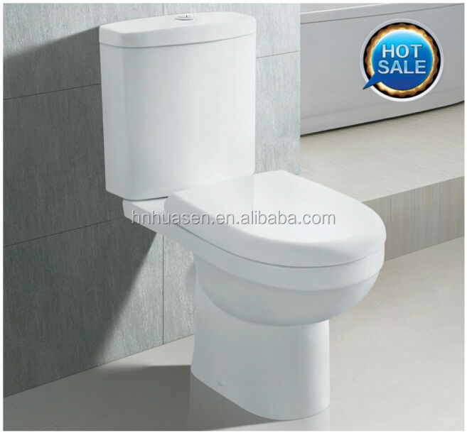 Bathroom Ceramic Sanitaryware Toilet HTT-1009D