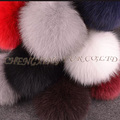 CX-A-63 Fluffy Fashion Cute Ball Keychain Rabbit Genuine Fox Fur Pompom