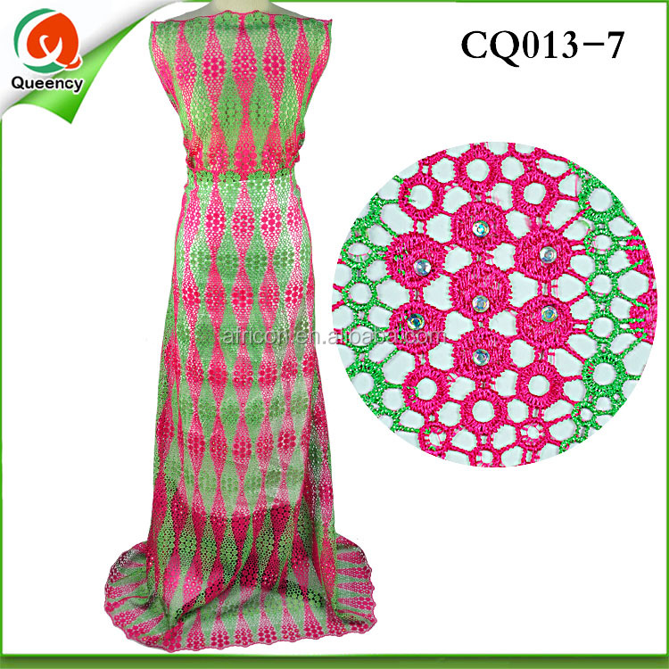cQ013-6 guipure korean lace fabric african cord lace fabric