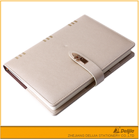 High quality cheap plain type leather cover custom logo agenda