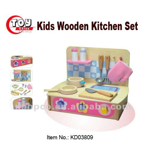 Kids Wooden Kitchen Sets Toy
