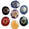 Engraved Chakra Oval Cabochon Set With