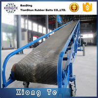Hebei Tianshun Brand Chevron/Patterned cleated conveyor belt endless rubber belt