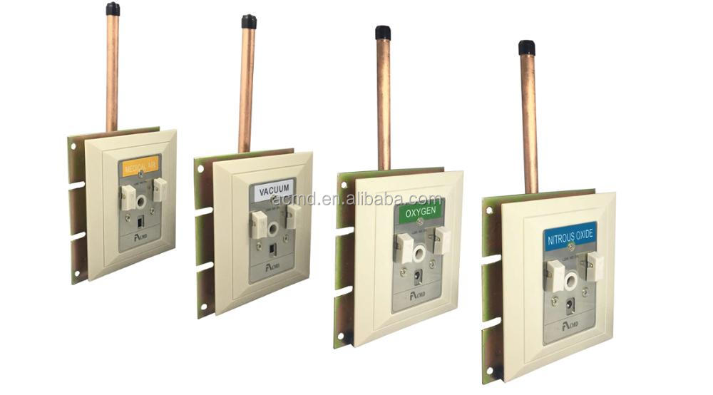 Wall Mounted Medical German Standard Gas Outlets For Gas Pipeline System
