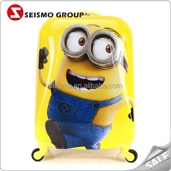 Cute Minions Child 3D Cartoon Light Weight Fancy Luggage