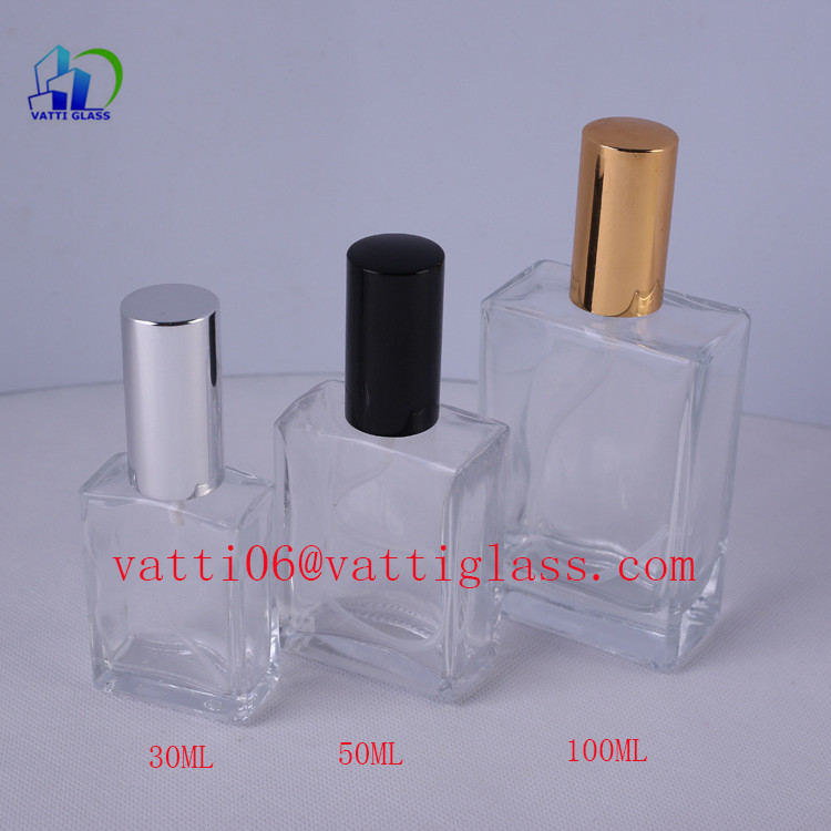 China supplier metal cap 30ml/50ml/100ml perfume bottle glass roll on perfume bottel