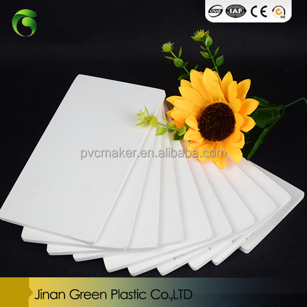 Green brand <strong>pvc</strong> 3mm and 5MM foam board 8ftX4ft size,density 0.5 colour White