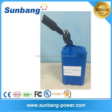 high quality customized rechargeable li ion battery 12v 4000 mah for torchs/flashlight/led light
