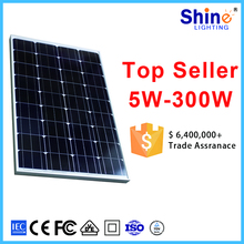 Mono poly Solar PV module 100wp wholesale price for 2KW off-grid solar system