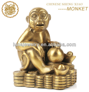 Fabulous Hong Tze Collection-Triple Chinese zodiac animals Resin Monkey Statue
