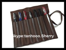 emboss your LOGO professional make up bag professional makeup brush leather pencil roll belt hair tool belt roll