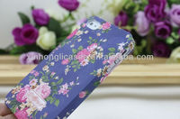 Top Quality Pulitzed case cover for iphone 4 4s -Flower soft pc case